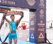 The final of the Triathlon Cup in Aktau