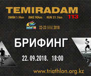 Race briefing in Aktau